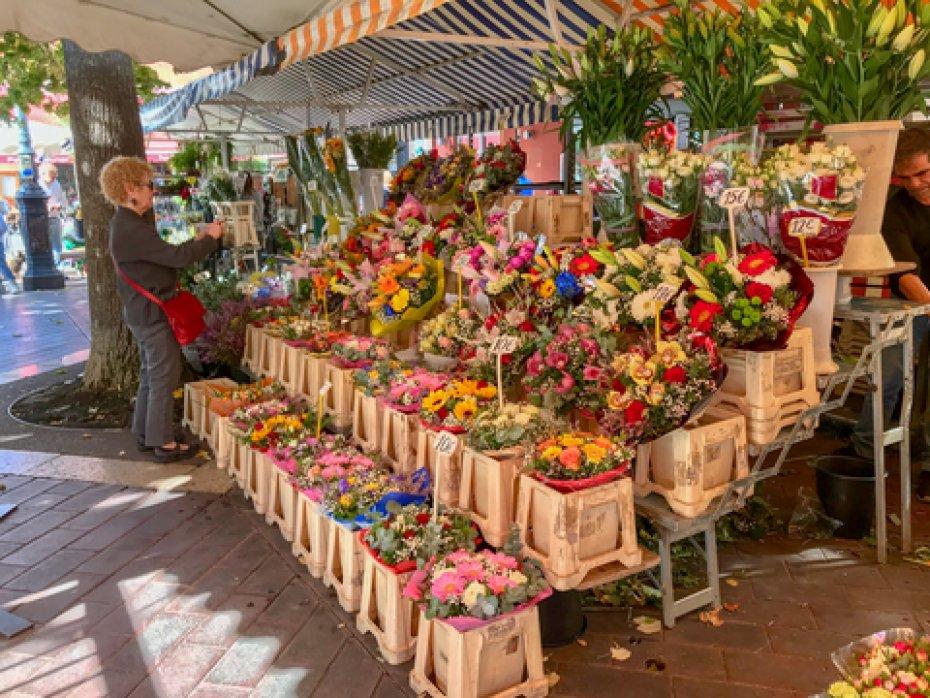 Cours Saleya Flower Market in Nice
